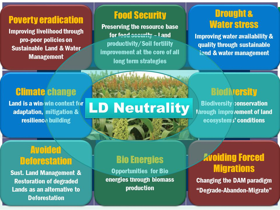 LD Neutrality Poverty eradication Food Security Drought & Water stress