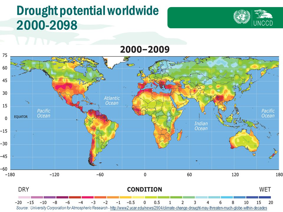Drought potential worldwide