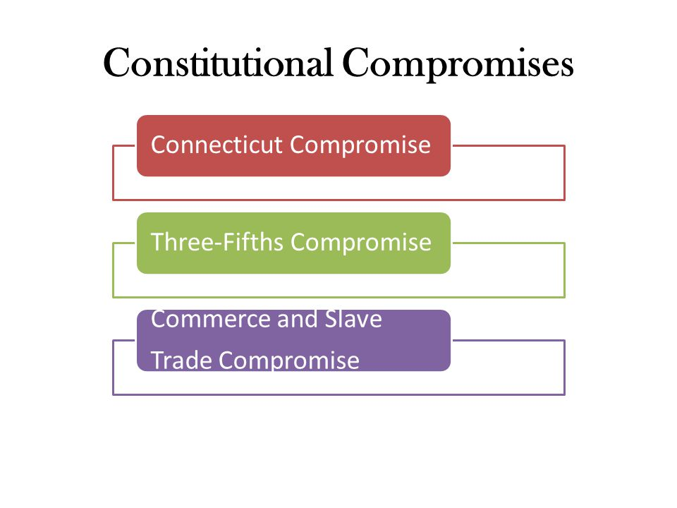 constitutional compromises essay America's constitutional democracy is going to collapse  maybe legislative  compromise really has broken down in an alarming way  in a 1990 essay, the  late yale political scientist juan linz observed that aside from the.