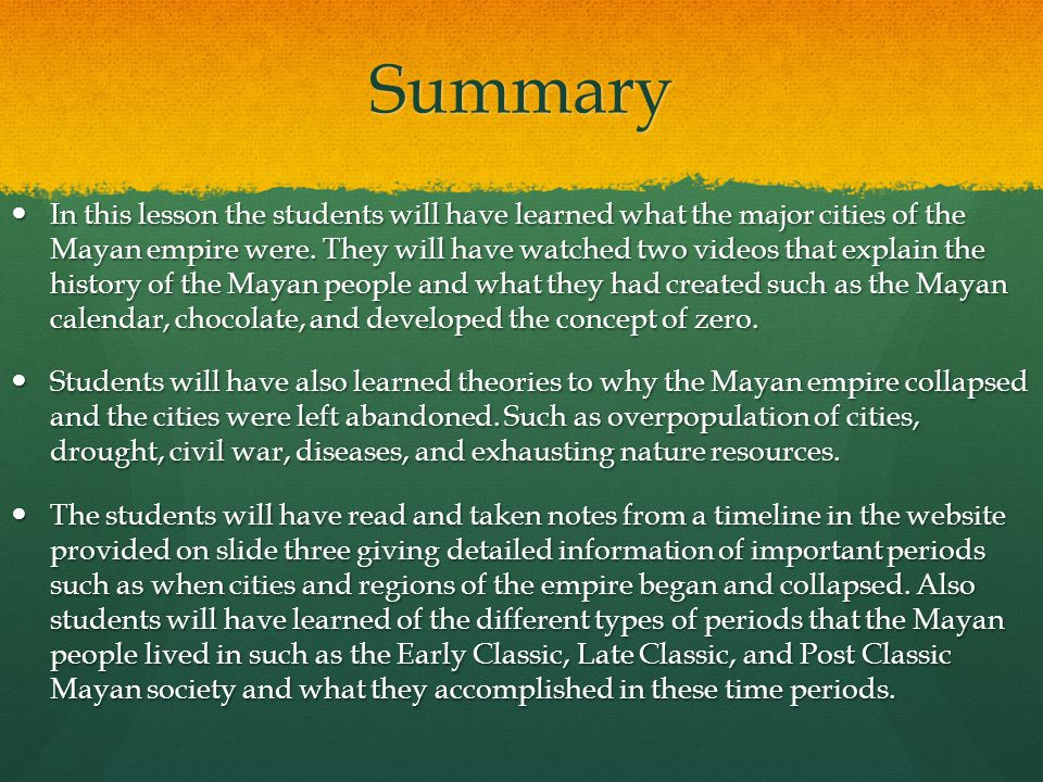 why the mayan empire collapsed The great collapse  the three specific droughts may have been what pushed the mayan society over the edge 4 political vulnerabilities: resistance and anomie.