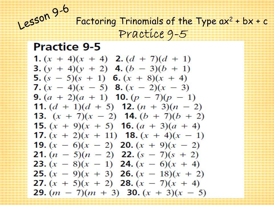 Polynomials and Factoring ppt video online download – Factoring Polynomials Worksheet Answers