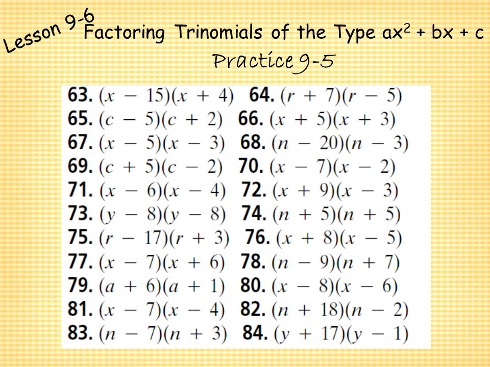 factoring trinomials of the form ax2 bx c worksheet answers stinksnthings. Black Bedroom Furniture Sets. Home Design Ideas