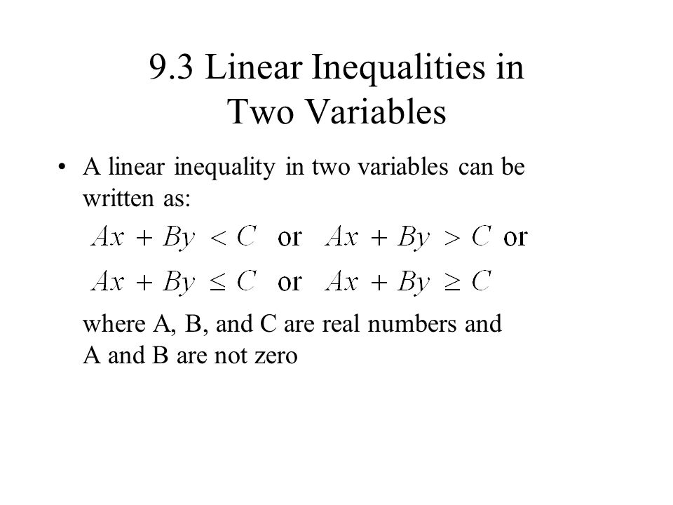 two variable inequality essay Linear inequalities in two variables to solve a linear programming problem 10 essay questions and 50 multiple choice if the inequality symbol is or.