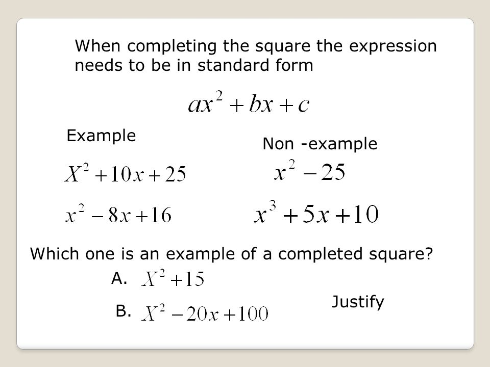 California Standards 140 Students Solve A Quadratic Equation By