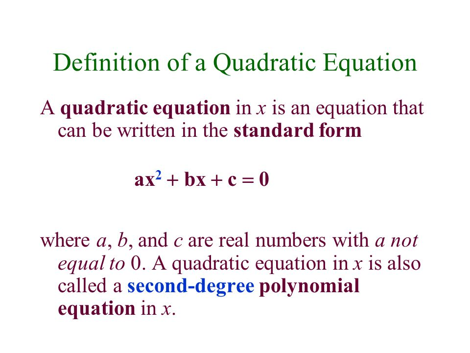 Quadratic Functions in Standard Form