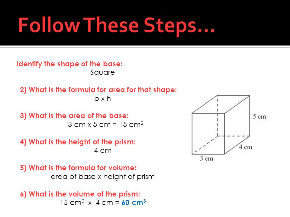 Follow These Steps…