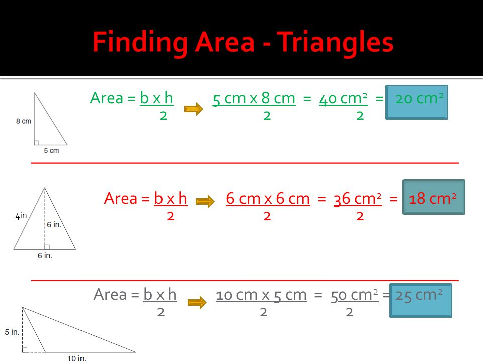 Finding Area - Triangles