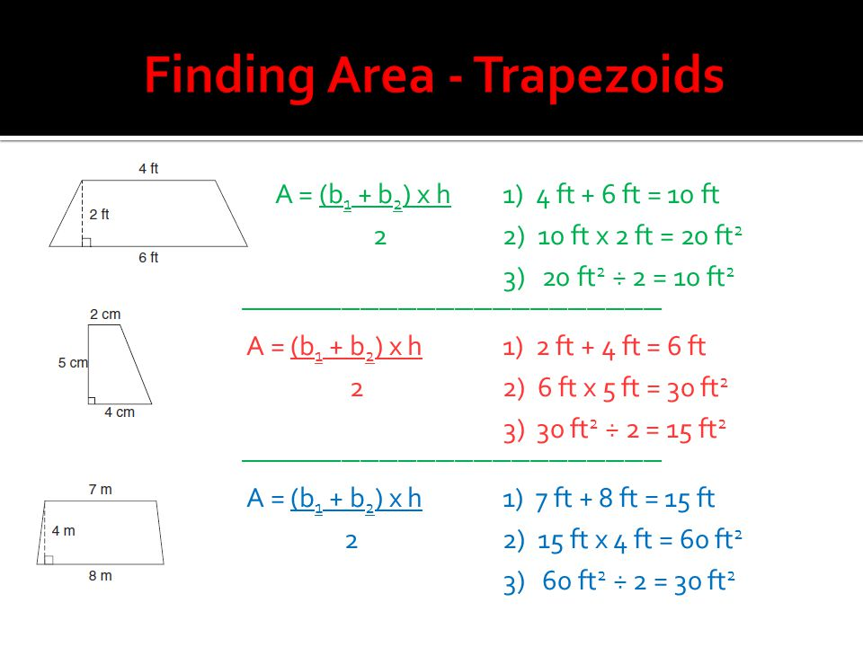 Finding Area - Trapezoids