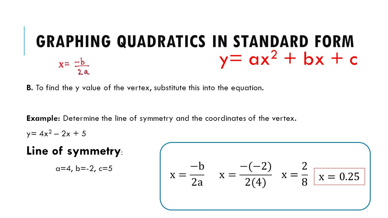 QUADTRATIC RELATIONS Standard Form. - ppt download