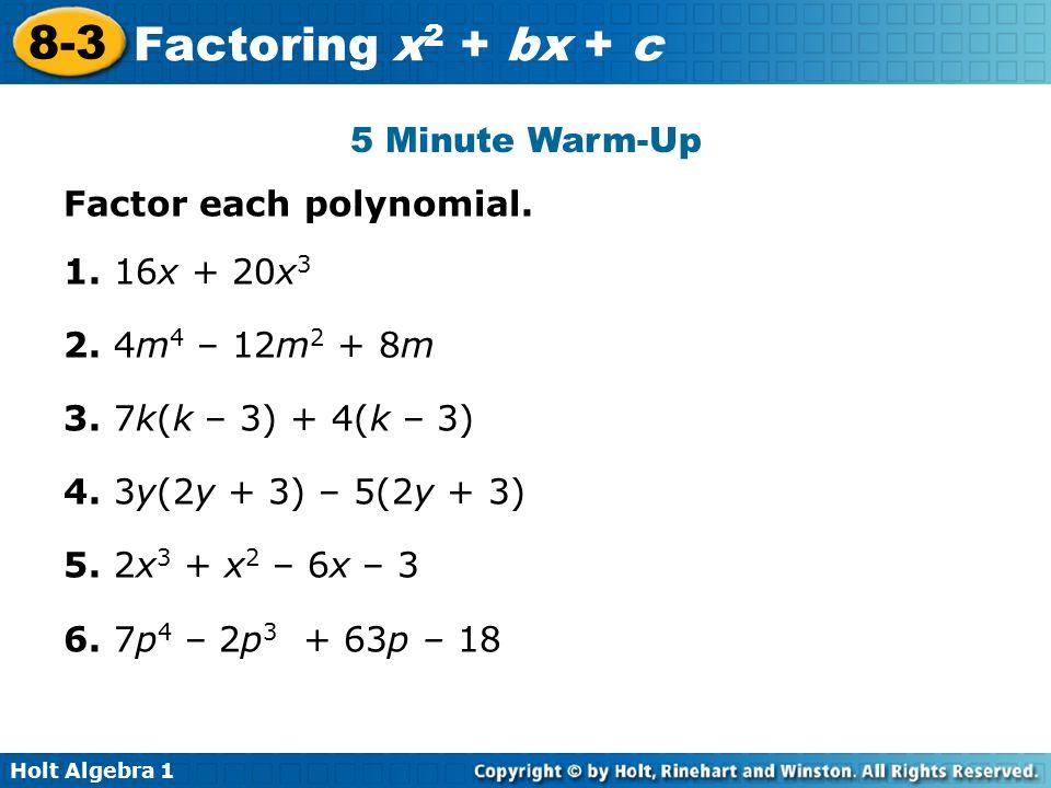 Factoring polynomials worksheet pdf