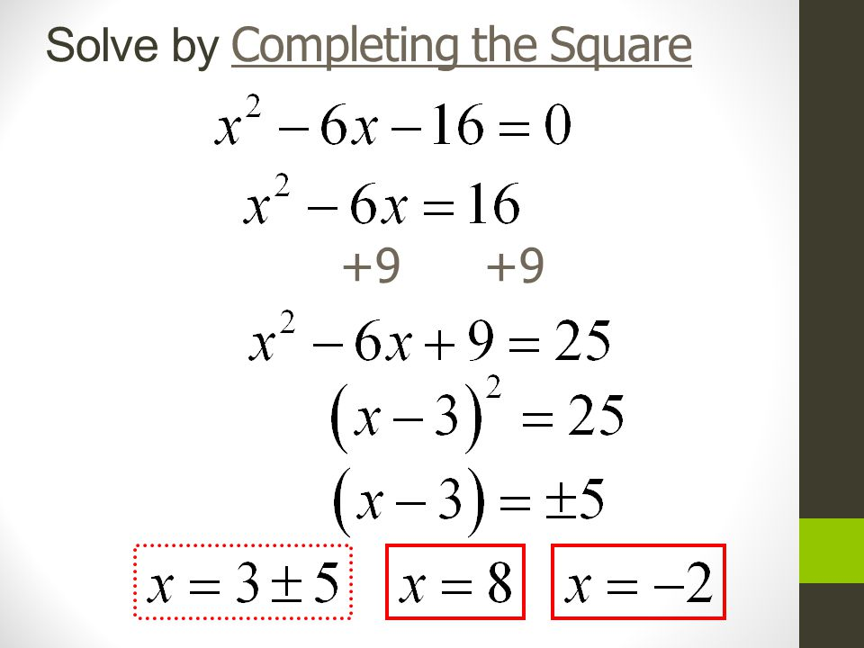 2 4 completing the square objective to complete a square for a quadratic equation and solve by. Black Bedroom Furniture Sets. Home Design Ideas