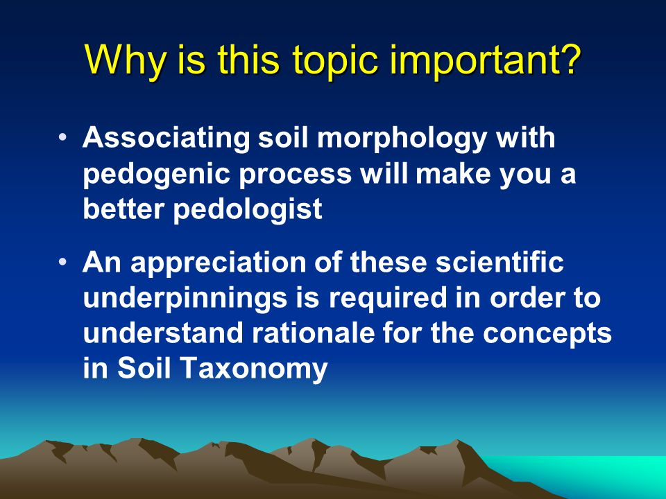 Overview of the underpinnings and building blocks of soil for What is important to know about soil layers