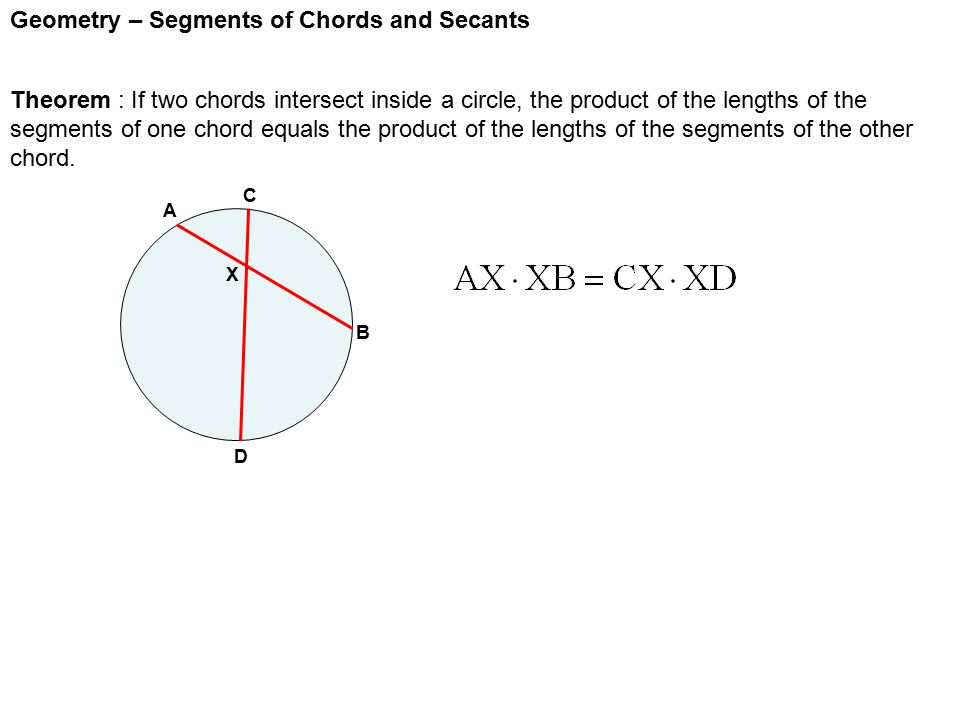 Geometry – Segments of Chords and Secants - ppt video online download