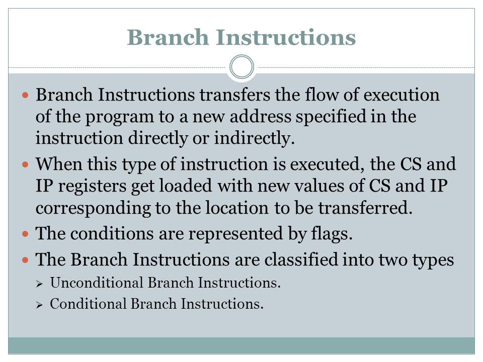 Branch Instructions