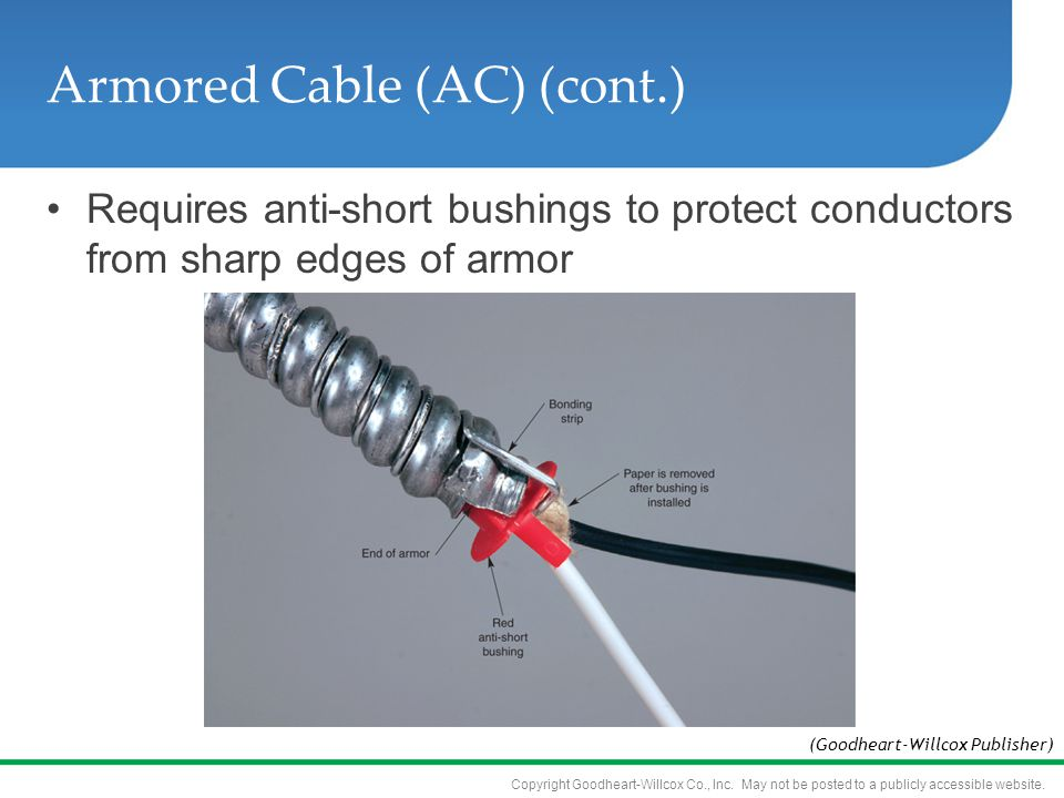 Armored Cable Wiring Building Codes : Wiring systems objectives know where