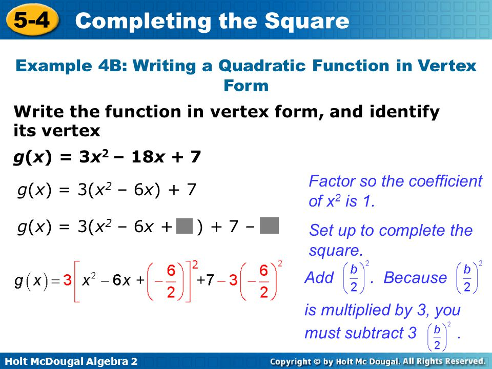 Vertex Form By Pleting The Square Worksheet Kidz Activities. 5 4 Pleting The Square Warm Up Lesson Presentation Quiz. Worksheet. Pleting The Square Worksheet Activity At Mspartners.co