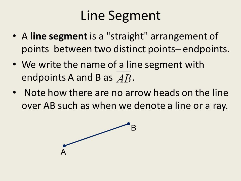 how to find the endpoint of a line segment