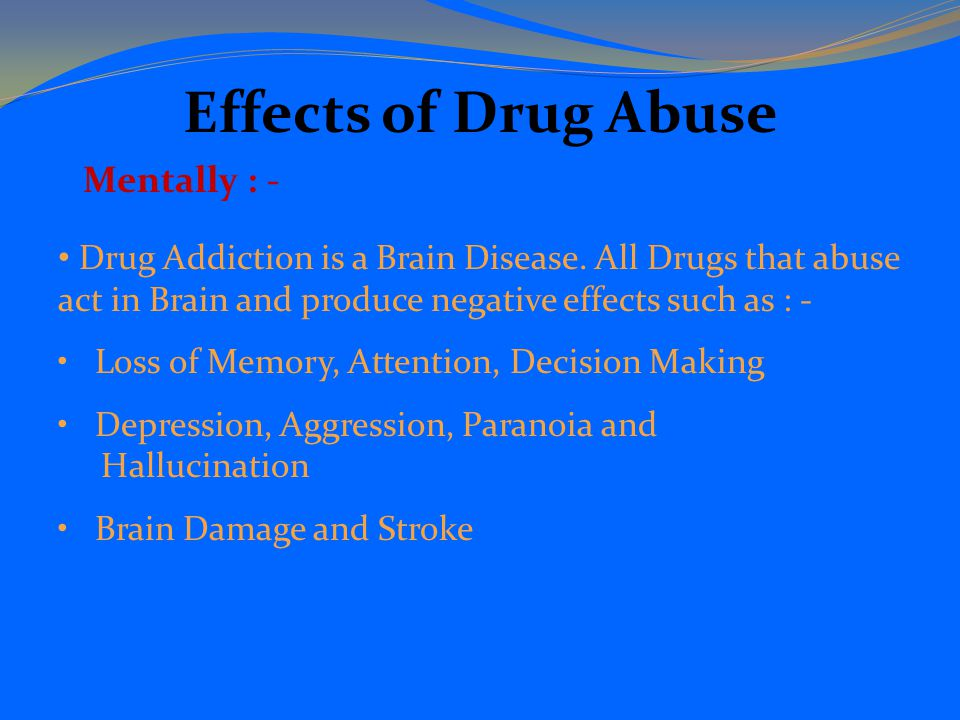 the influence of television on drug abuse Alcohol counter-advertising and the media  can influence their  who are prone to alcohol and other drug abuse can be directly influenced with properly.