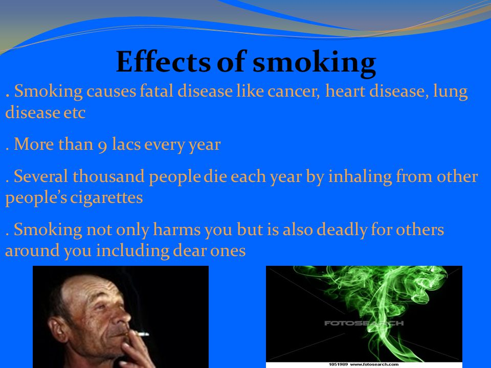 the causes and effects of smoking