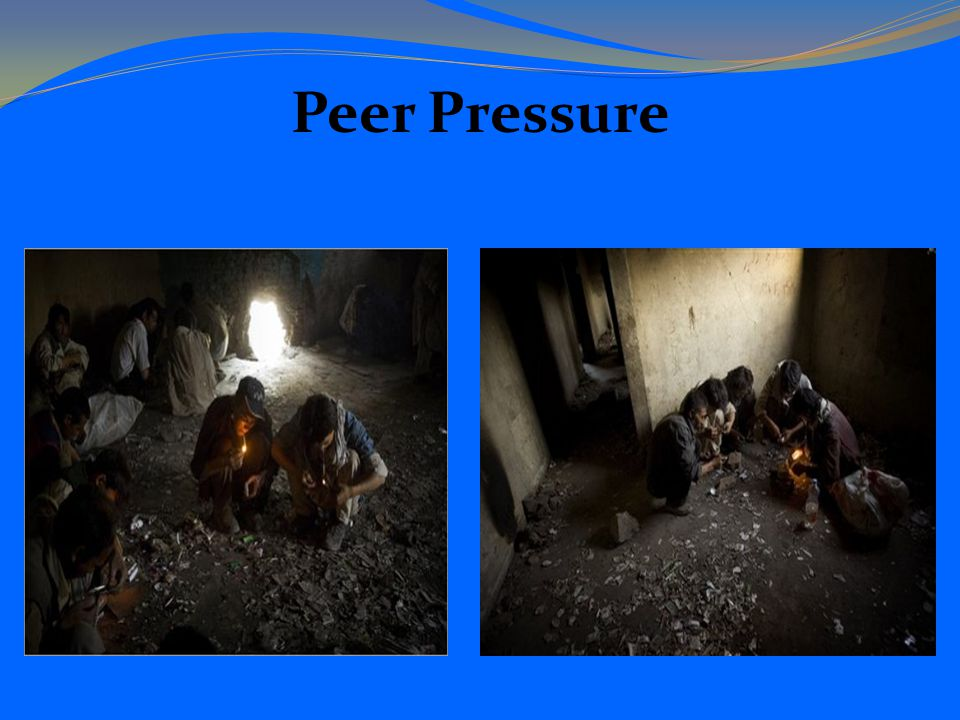 peer pressures and substance abuse Drug abuse prevention table role-playing is a great way to connect with your teens and give them the tools they need to be able to resist peer pressure and drug.