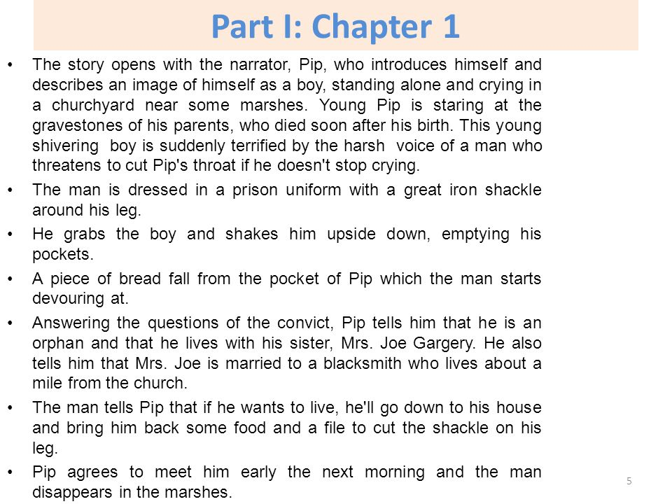 An analysis of chapter 1 7 in the story great expectations