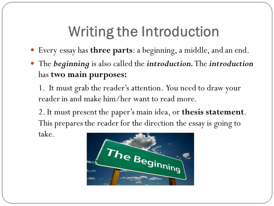 parts of introduction in thesis Crafting a good introduction and thesis statement is often the hardest part of writing an essay however, it can also be the most rewarding experience the beginning.