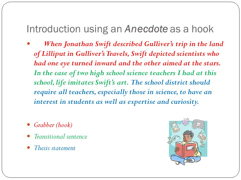 Research paper introduction anecdote