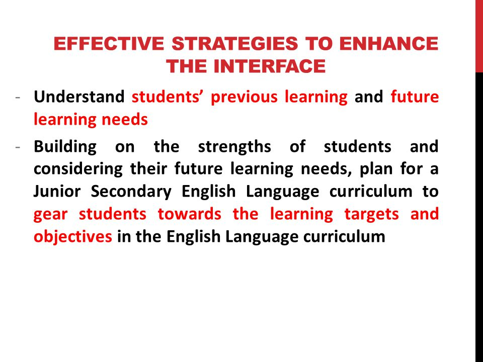 the effective learning strategy in english Reading strategies: some tutorials on techniques like highlighting text and other effective reading strategies effective reading strategy checklist: provides a list of things to help boost reading comprehension effective learning from others  sometimes, learning on your own isn't as effective as learning as part of a group there's a lot of evidence pointing towards collaborative learning being more effective than learning on one's own.