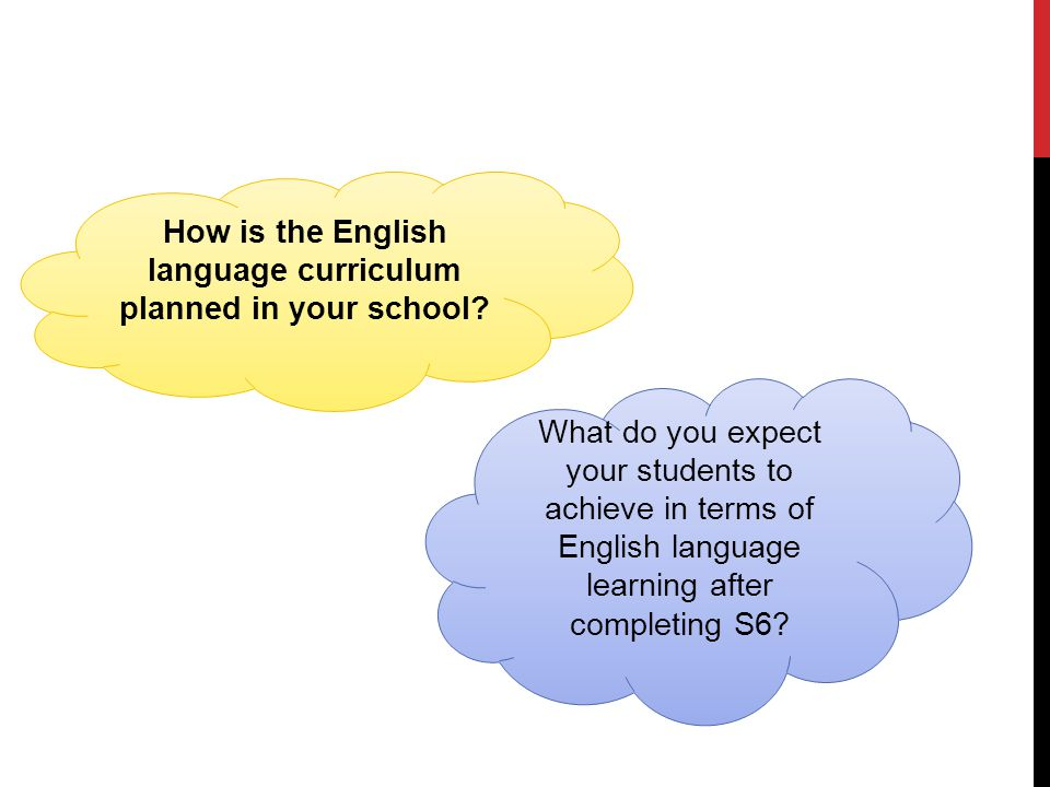 How is the English language curriculum planned in your school