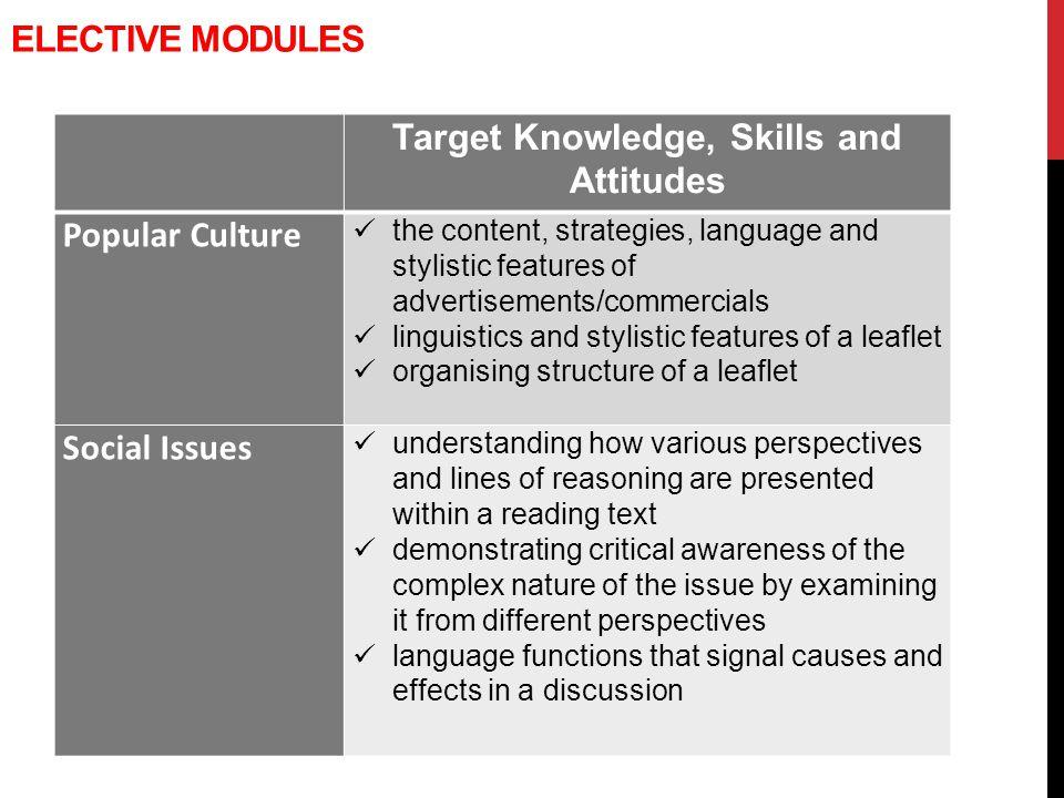 Target Knowledge, Skills and Attitudes