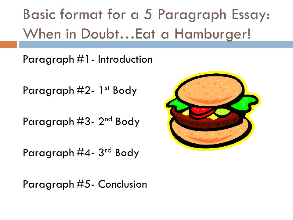 five paragraph essay burger