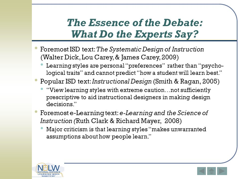 The Essence of the Debate: What Do the Experts Say