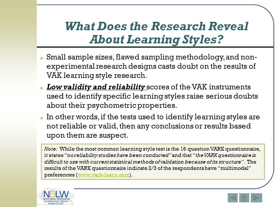 vark learning styles questionnaire pdf