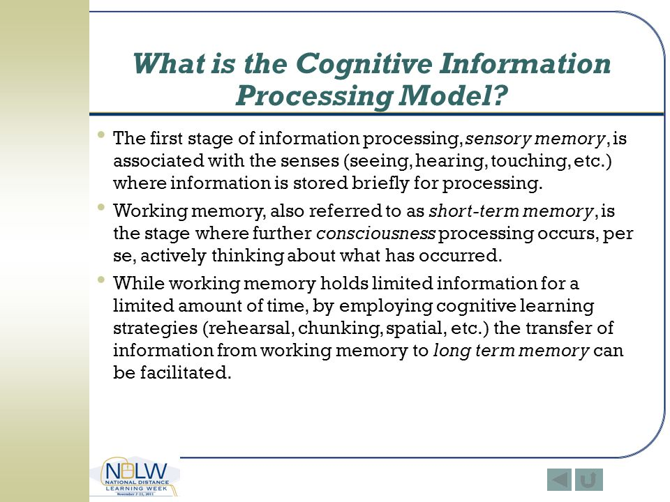 What is the Cognitive Information Processing Model