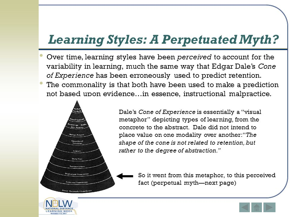 Learning Styles: A Perpetuated Myth
