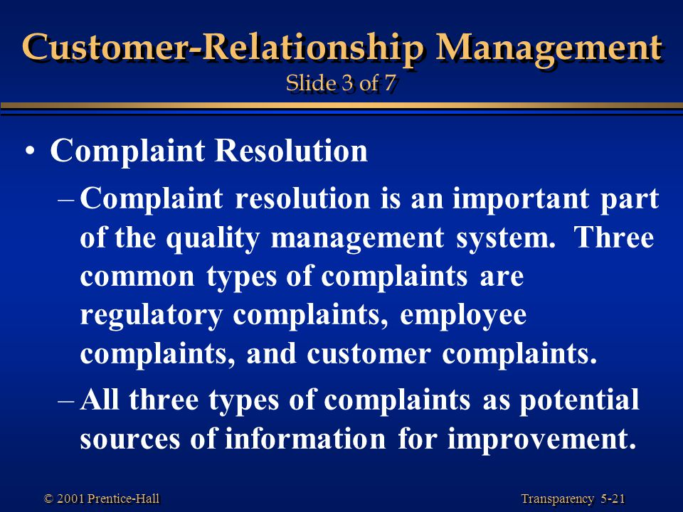 important aspects of customer relationship management