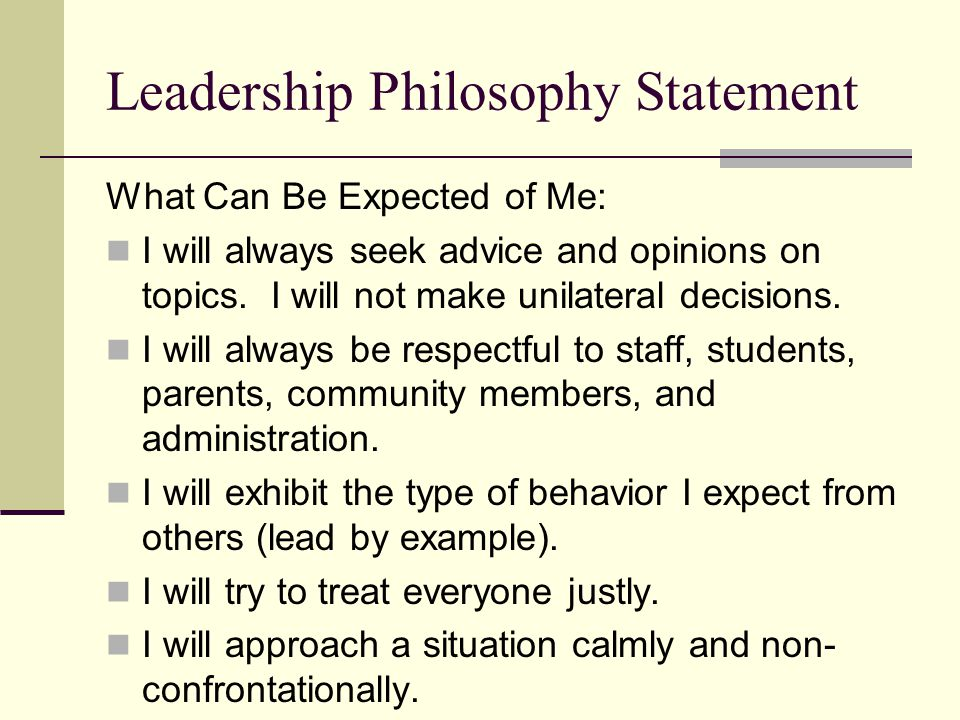 leadership philosophy example - Khafre
