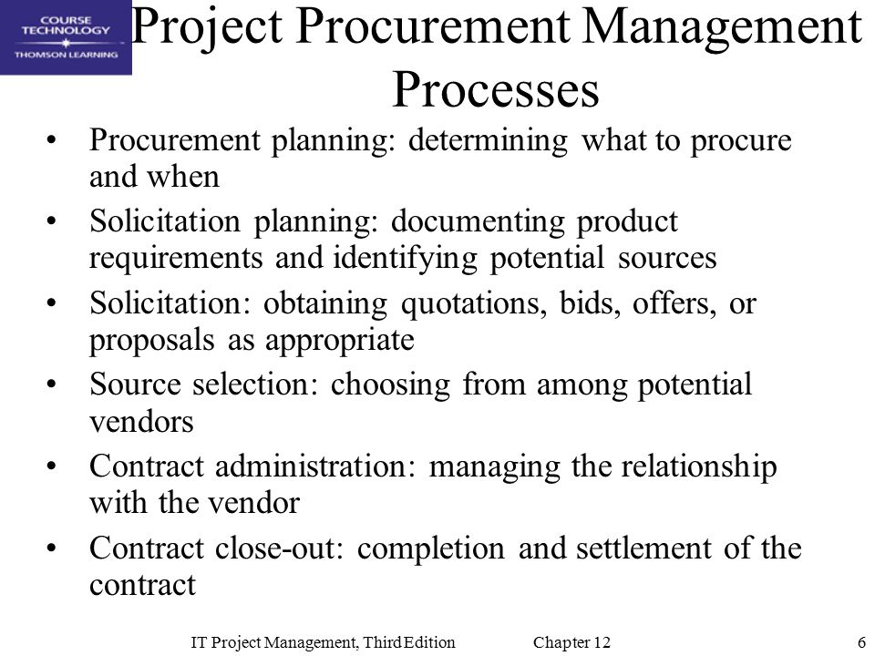 Chapter 12: Project Procurement Management - ppt video online download