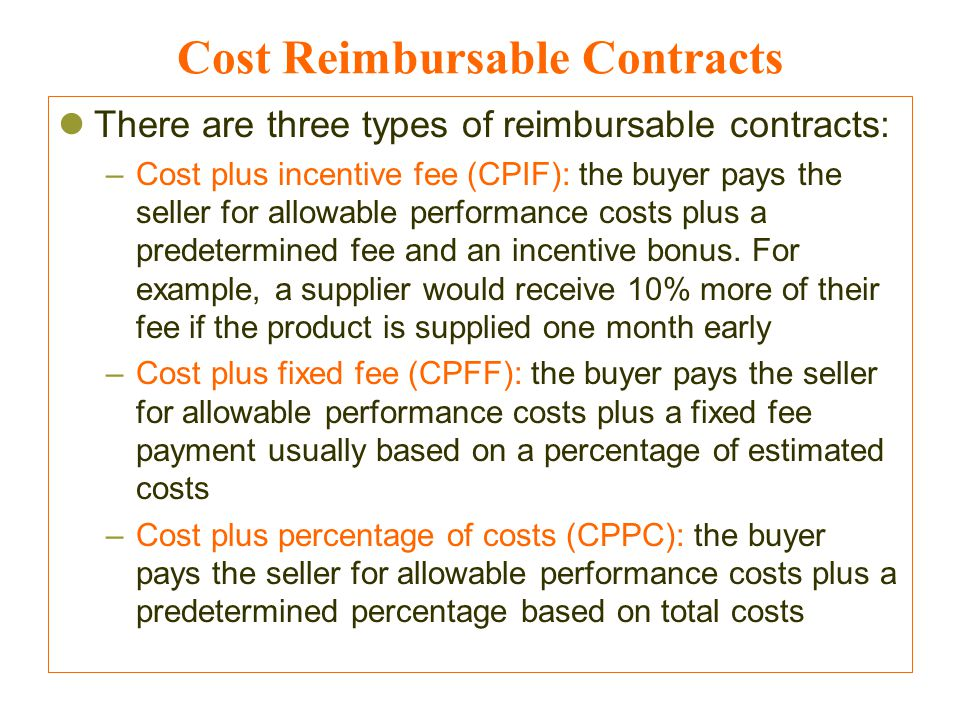 Project procurement management mohammad a rob ppt video for Cost plus contract example