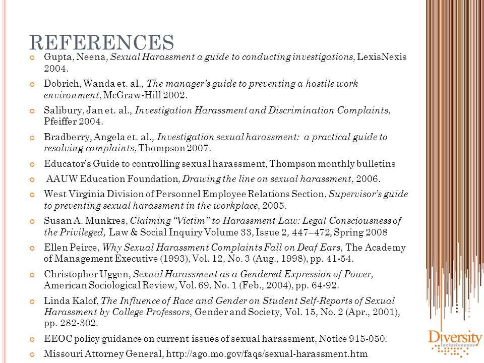 an analysis of the history and legal regulation of the issue of sexual harassment Because the legislative history offered no definitive guide to congress's intention, the legal rules against sex discrimination have been established primarily through a process of litigation (achampong, 1999.