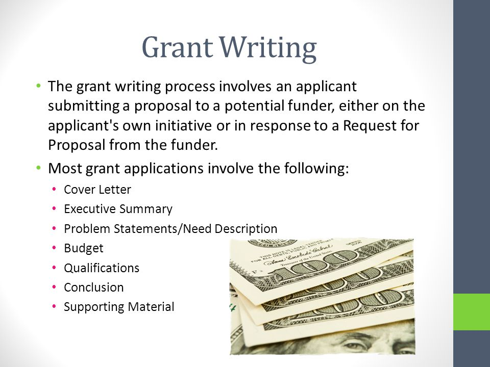 how to make money writing grants