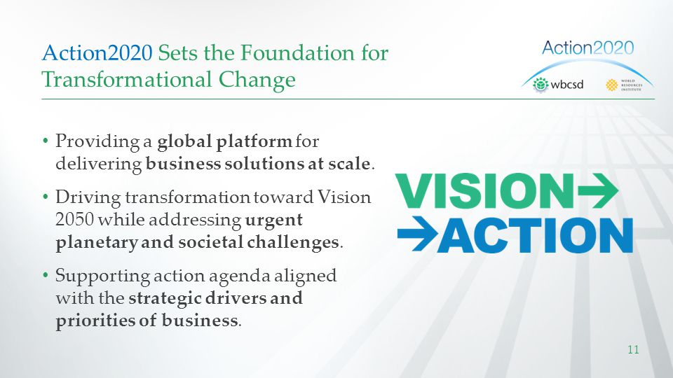 Action2020 Sets the Foundation for Transformational Change