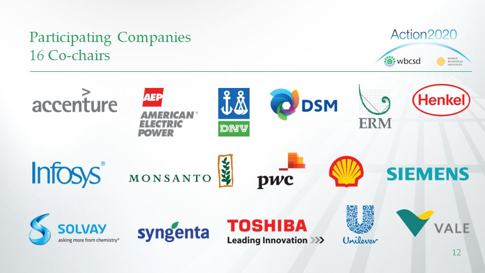 Participating Companies 16 Co-chairs