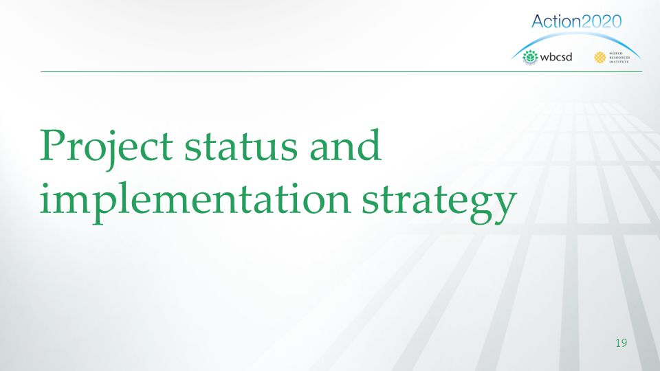 Project status and implementation strategy