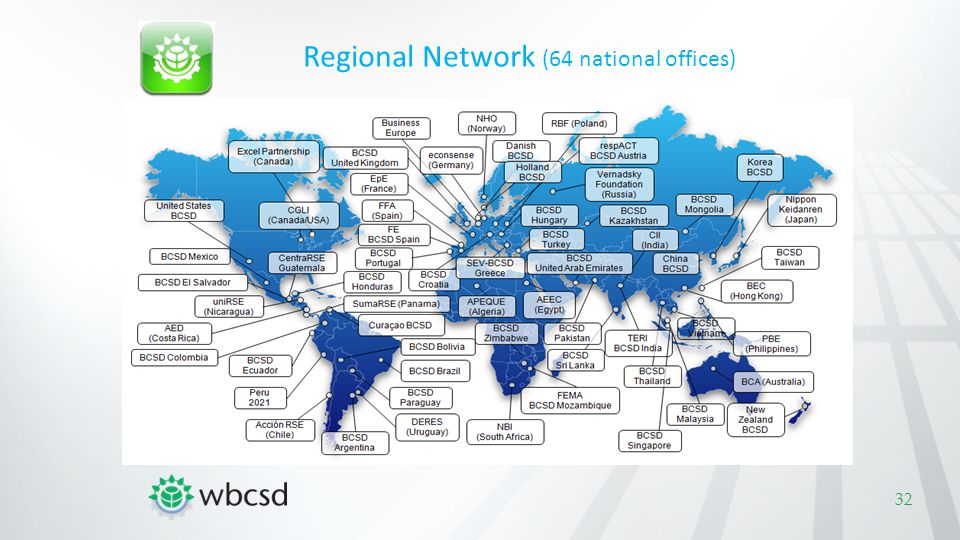 Regional Network (64 national offices)