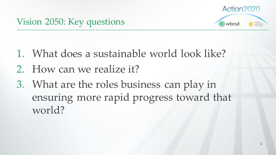 What does a sustainable world look like How can we realize it