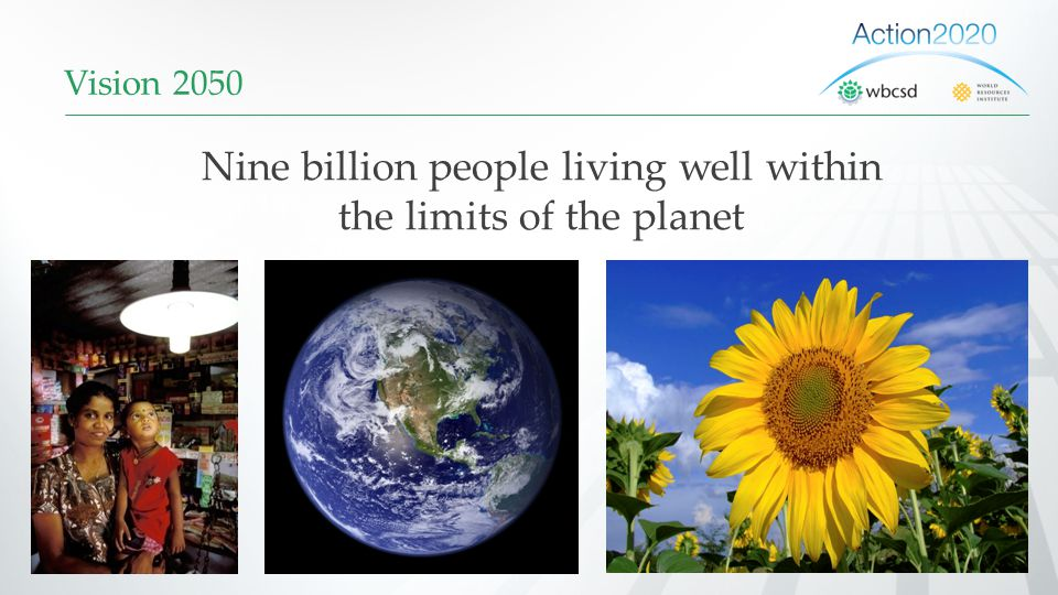 Nine billion people living well within the limits of the planet