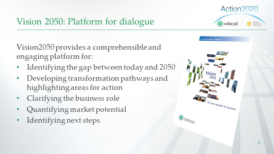 Vision 2050: Platform for dialogue