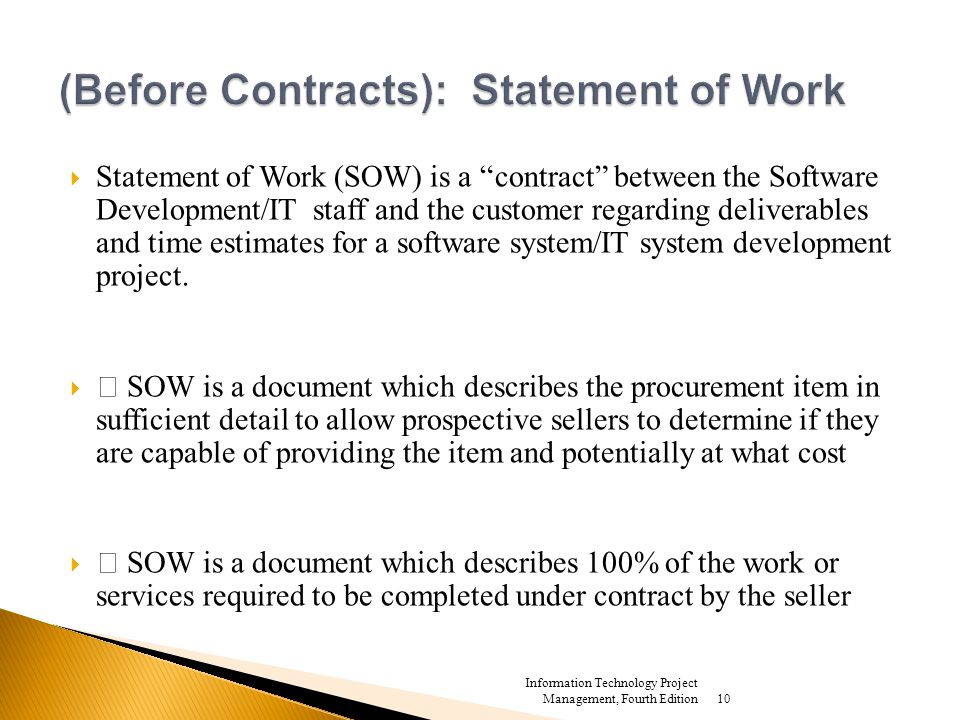 contract statement of work