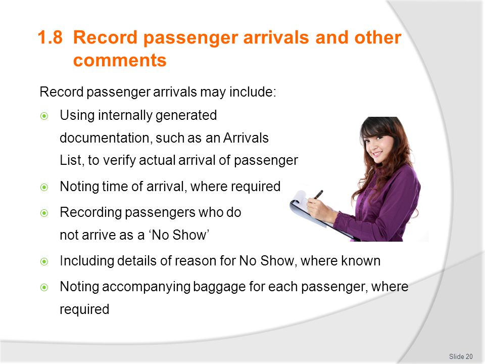 1.8 Record passenger arrivals and other comments